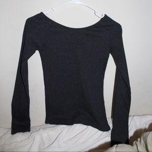 Charcoal Gray Long Sleeve